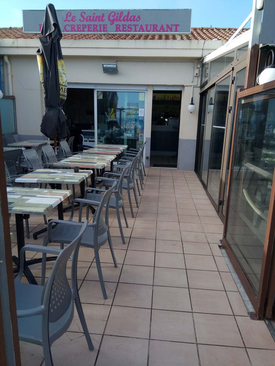 Restaurant Le-Saint Gildas vue sur la terrasse